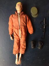 original vintage action man painted hair with accessories and lace up boots
