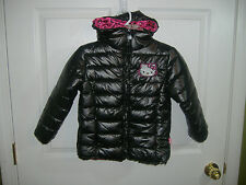 HELLO KITTY GIRLS 5 HOODED BLACK PUFFER COAT-NEW WITH TAGS