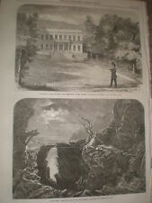 Home of Empress Charlotte of Mexico at Tervueren Belgium 1867 old print