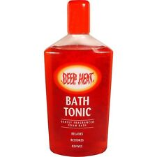 Mentholatum Deep Heat SCHIUMA BATH TONIC 350ml relaxe, ripristinare i muscoli, Aches male