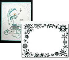 FROST FRAME snow CTFD4030 Crafts Too embossing Folders Cuttlebug Compatible