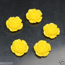 20 Pcs Yellow Flowers Flat Back Resin DIY Mobile Phone Case Decoration Cosmetic