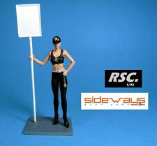 GRID GIRL DANIA JPS PIT BABE RACER SIDEWAYS 1:32 FIGURE DETAIL SCALEXTRIC
