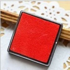 Red Cute Little Inkpad Stamp Pad Ink Stamp Couples 4x4cm Square Candy Colors