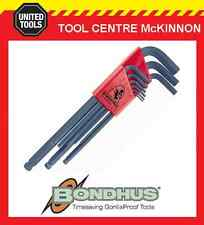 BONDHUS 9pce METRIC LONG ARM BALL POINT / BALLDRIVER HEX KEY SET – MADE IN USA