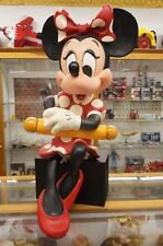 WALT-DISNEY STORE DISPLAY MINNIE MOUSE SITTING WITH POLE LIFE SIZE STATUE