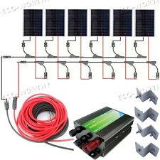 1KW Solar Panel Complete Kit: 1000W 6*180W Solar Module System for Home RV Boat