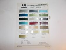 1970 CHRYSLER & IMPERIAL RINSHED-MASON PAINT CHIP SAMPLES & CODES