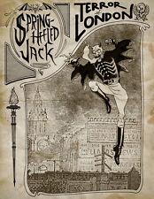 """SPRING HEELED JACK VICTORIAN LONDON BOGEY MAN   8""""X6"""" METAL SIGN / PLAQUE"""