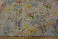 Up and Away SWARM Butterflies Blue Allover Cotton Fabric .50 Yd Loralie Harris