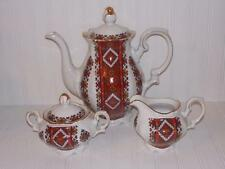 Kronester Bavaria Ukraine Embroidery Tea Pot Creamer & Sugar
