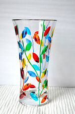 Murano Glass Colorful Flowervine Vase, Large