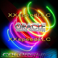 ORACLE Fiat 500 2011 up COLORSHIFT Headlight Halo Angel Demon Eyes kit