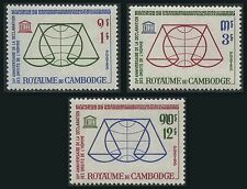 CAMBODGE N°141/143*   Les Droits de l'Homme 1963, CAMBODIA Human Rights MLH
