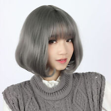 UKJF240 short grey women's health hair wig fashion wigs for women