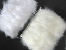 F468 PER FEET-Pale Beige  Turkey Marabou Hackle Fluffy Feather Fringe Trim Craft