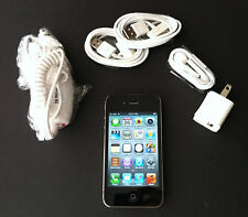 iPhone 4S 16GB Unlocked Black + Warranty  iOS 8 Straight Talk TMobile World!