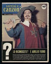 SORRISI 20/1959 CARMEN SEVILLA FESTIVAL DI NAPOLI PETRI FIERRO MIRANDA MARTINO