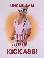 ADVERT SATIRE UNCLE SAM KICKS ASS IRAN HOSTAGE CRISIS ART POSTER PRINT LV7025
