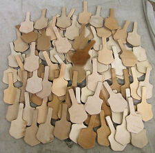 100!REAL NATURAL Veg TAN LEATHER BLANK SHIELD KEY FOBS,KEYRINGS+KEYCHAINS