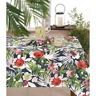 Tommy Bahama Indoor Outdoor Water Repellent Tablecloth Bernin Floral Asst. Sizes