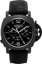 Panerai Luminor 1950 Chrono Monopulsante 8 Days Gmt Men Watch PAM00317 New Orig