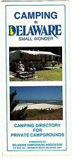 Camping in Delaware Directory Private Campgrounds Vintage Brochure