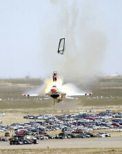 8x10 Stunning Photo US Thunderbird Pilot Ejecting from Plane after Malfunction