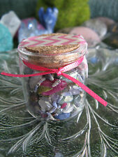 NEW FAIRIE'S SECRET TREASURE TINY MINI GEMSTONE MIX W/DRIED LAVENDER & ROSE BUDS
