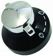 GENUINE STOVES NEWHOME CONTROL KNOB BLACK/SILVER OVEN COOKER 081880326