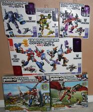 TRANSFORMERS CONSTRUCT BOTS LOT 6 SETS! MEGATRON OPTIMUS DEAD END RIPCLAW STRIKE