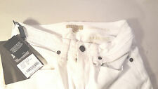 """Burberry Brit womens JEANS 26x37 """"Chelsea) Bootcut White stretch NWT"""