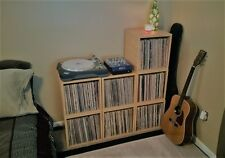 FREE SHIP Vinyl Record Storage and LP Album Cube Natural Wood Grain (1 Cube $35)