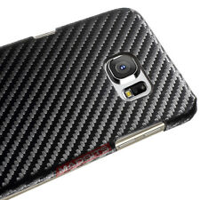 NEW BLACK PREMIUM CARBON FIBER Style 0.6mm Case Cover FOR SAMSUNG Galaxy S6 EDGE