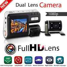 "1080P HD 2.7"" Dual Lens CAR DVR Vehicle Video Dash Camera Recorder Night Vision"