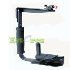 Quick Flip Flash Bracket Grip Camera Flash Arm Holder stand For Canon Nikon
