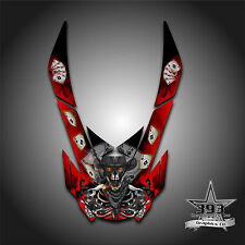 SKI DOO REV XP SNOWMOBILE SLED GRAPHICS DECAL STICKER HOOD WRAP OUTLAW RED