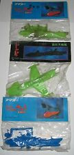 "3 x Space Battleship Yamato 3"" Keshi Gomu Sealed Bag Japanese Vintage Starblazer"