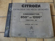 n°h241 catalogue pieces citroen hy n°441 1948 1957