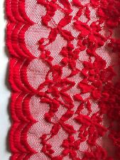 Stretch Red Lace Fabric, For Swimwear, Dress Making Lingerie 70cm X 49cm