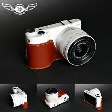 Handmade Genunie real Leather Half Camera Case Camera bag for Samsung NX2000