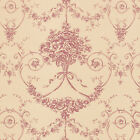 Cotton 100% Satin weave Fabric Bedding Clothes Covering Antique Damask Beige 44""