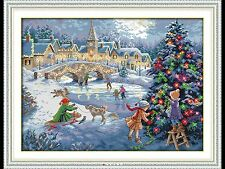 Beautiful Christmas Scene Cross Stitch kit 14ct