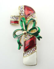 NEW KIRKS FOLLY CANDY CANE CONFECTION PIN  GOLDTONE