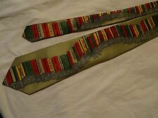 LIBRARIAN BOOK SELLER TIE 100% SILK HANDMADE VERY COLOURFUL -