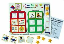 I Can Do It get ready for school chart, checklist ends morning struggles!
