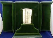 Rare 1970 Keeneland Race Track 14K Yellow Gold Presidential Mint Julep Cup,wMONO