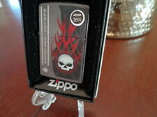 HARLEY DAVIDSON MOTORCYCLES WILLIE G SKULL FLAMING ZIPPO LIGHTER MINT IN BOX