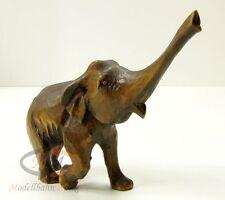 Tier-Figur indischer Elefant Holz Handarbeit geschnitzt Höhe ca. 73 mm