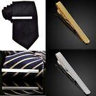 1x Silver Gold Men Necktie Tie Bar Clasp Clip Cufflinks Wedding Prom Party Gift